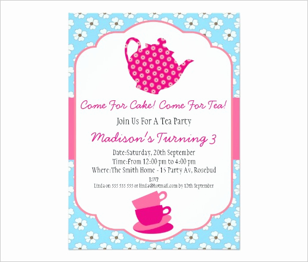 Tea Party Invitation Templates New 41 Tea Party Invitation Templates Psd Ai