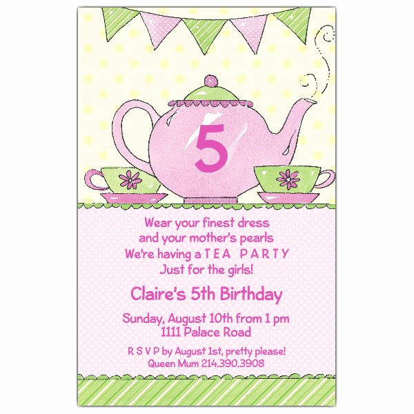 Tea Party Invitation Wording Awesome Tea Party Invitations