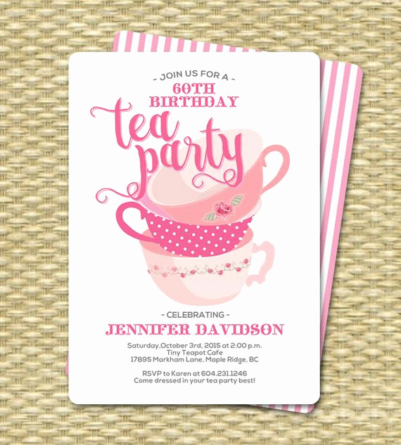 Tea Party Invitation Wording Beautiful Birthday Tea Party Invitations Birthday Tea Party Invitation