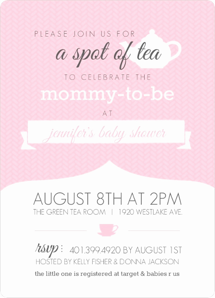 Tea Party Invitation Wording Fresh Baby Shower Tea Party Ideas