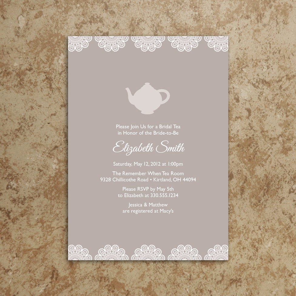 Tea Party Invitation Wording Fresh Tea Party Invitation Printable Pdf Tea Party Invite Baby