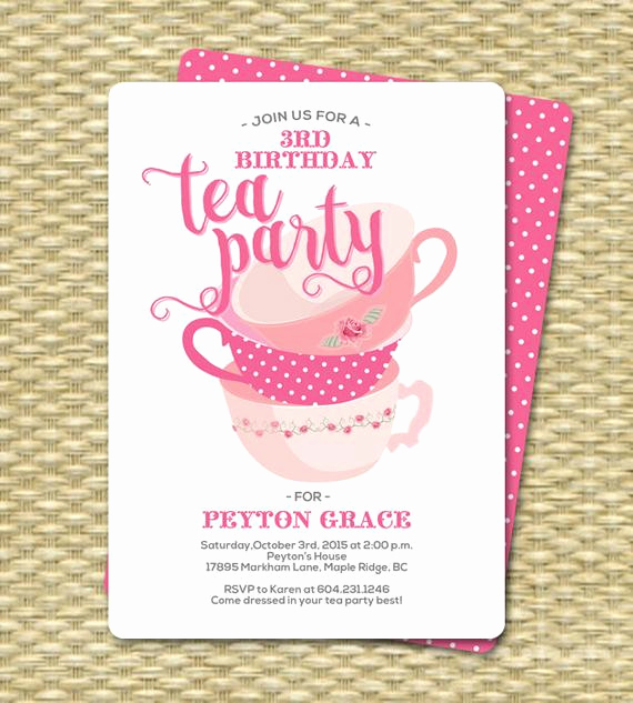 Tea Party Invitation Wording New Birthday Tea Party Invitations Birthday Tea Party Invitation