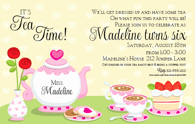 Tea Party Invitation Wording Unique Free Printable Princess Tea Party Birthday Invitations