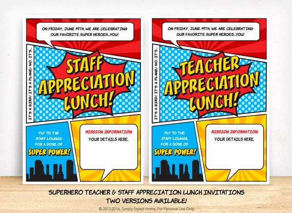 Teacher Appreciation Lunch Invitation Wording Awesome Customized Appreciation Lunch Invitation by Simplystyledhome