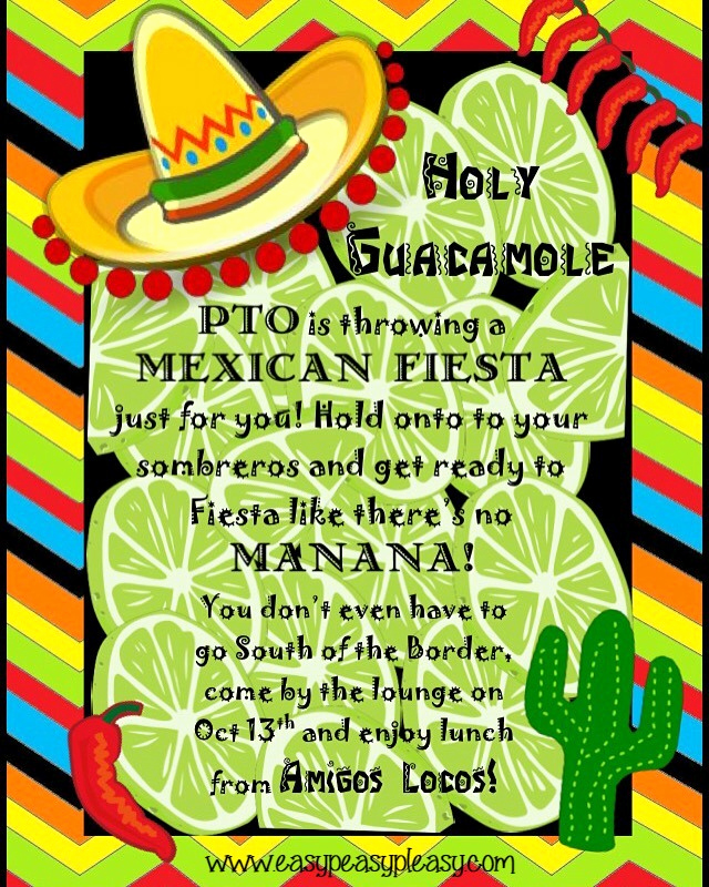 Teacher Appreciation Lunch Invitation Wording Awesome Teacher Appreciation Lunch Ideas Mexican Fiesta Easy