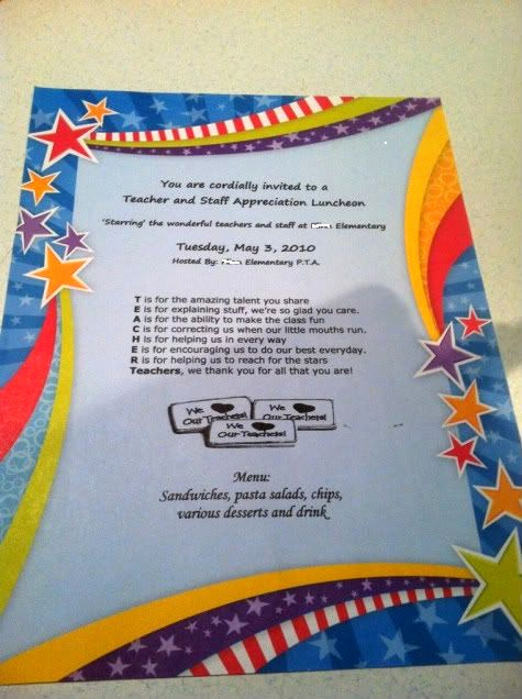 Teacher Appreciation Lunch Invitation Wording Elegant 1000 Images About Teacher Appreciation Meal On Pinterest