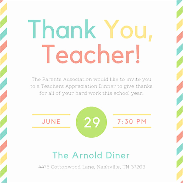 Teacher Appreciation Lunch Invitation Wording Lovely 8 Appreciation Dinner Invitations Word Psd Ai