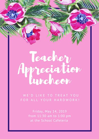 Teacher Appreciation Lunch Invitation Wording Lovely Luncheon Invitation Templates Canva