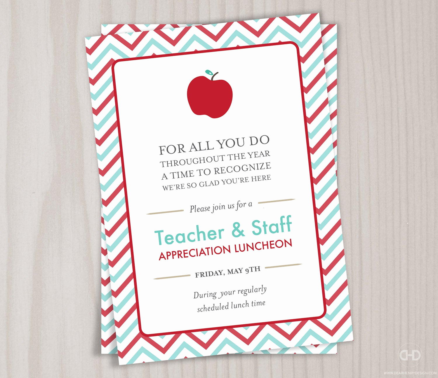 Teacher Appreciation Lunch Invitation Wording Unique Teacher Appreciation Invitation Printable Teacher Thank You