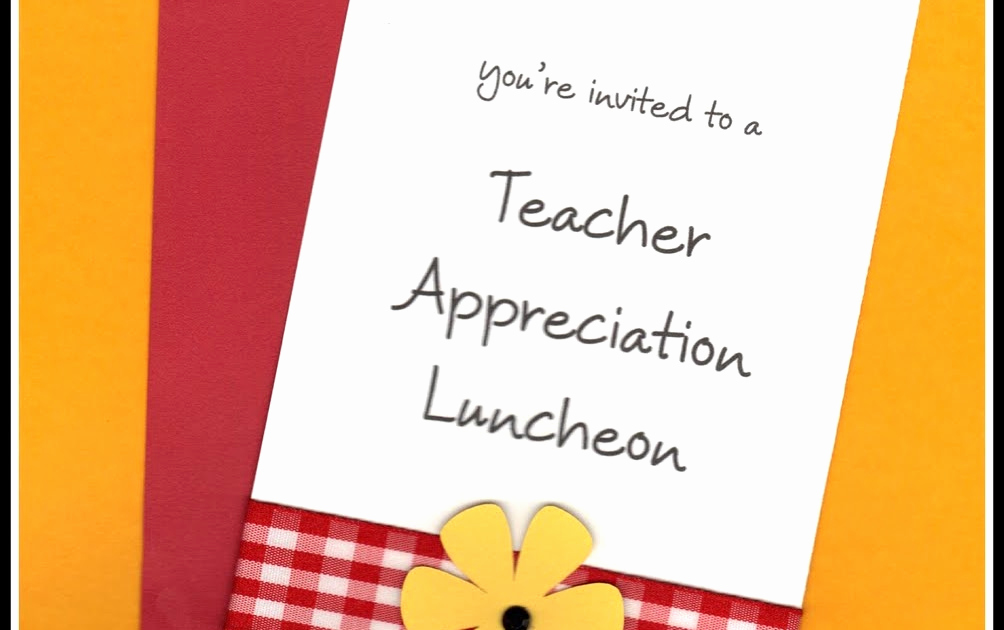 Teacher Appreciation Luncheon Invitation Awesome Posh In A Pinch We Heart Teachers Party and Celebration Ideas