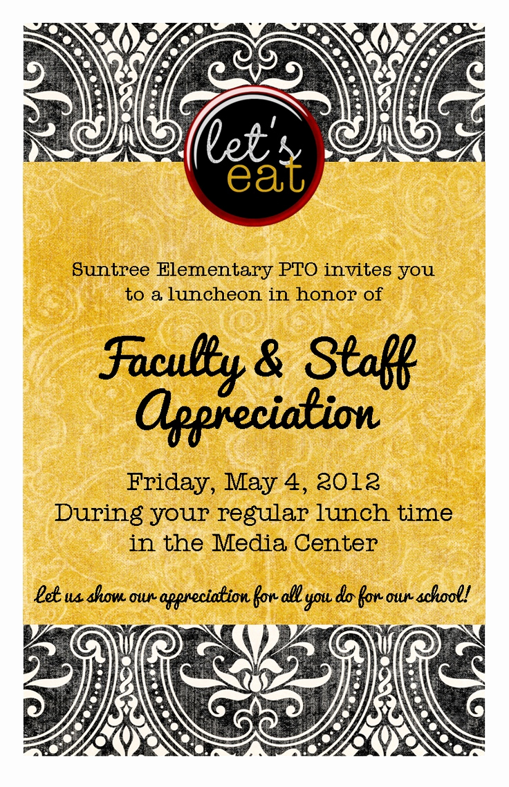 Teacher Appreciation Luncheon Invitation Best Of Best 25 Teacher Appreciation Luncheon Ideas On Pinterest