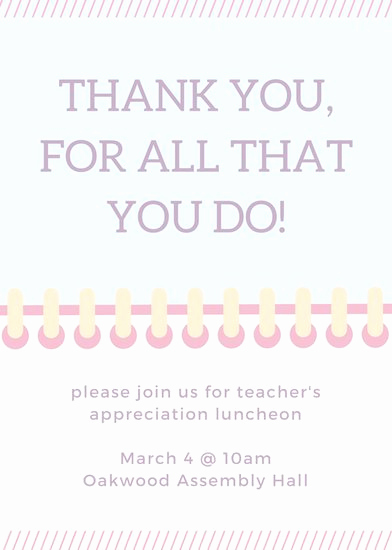 Teacher Appreciation Luncheon Invitation Elegant Luncheon Invitation Templates Canva