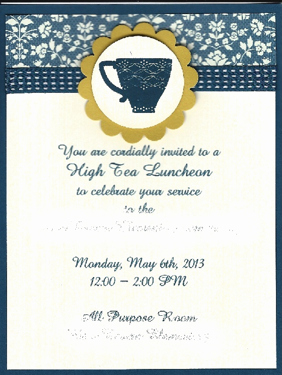 Teacher Appreciation Luncheon Invitation Lovely High Tea Invitation for Elementary School Teacher