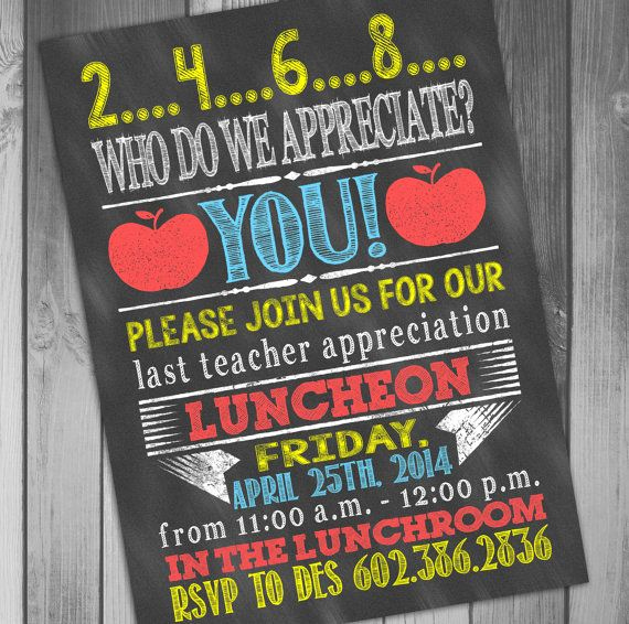 Teacher Appreciation Luncheon Invitation Luxury 25 Best Ideas About Teacher Appreciation Luncheon On