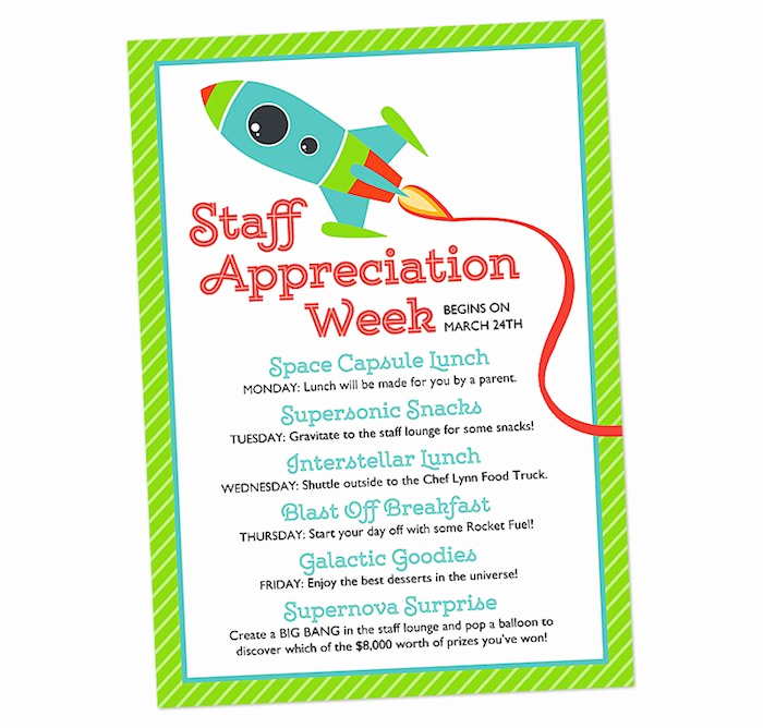 Teacher Appreciation Luncheon Invitation Wording Awesome Kara S Party Ideas Space themed Teacher Appreciation Party