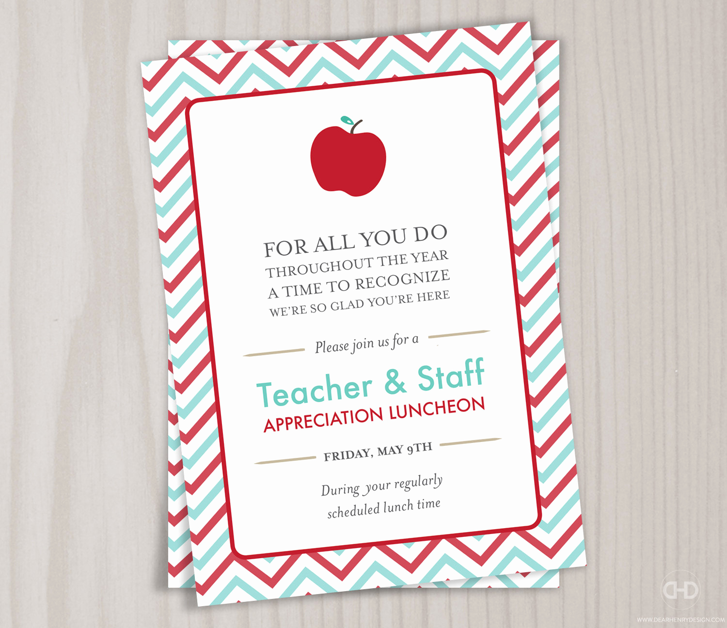 Teacher Appreciation Luncheon Invitation Wording Awesome Teacher Appreciation Invitation Printable Teacher Thank You
