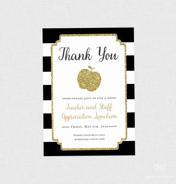 Teacher Appreciation Luncheon Invitation Wording Beautiful Teacher Appreciation Invitation Apple Printable Teacher