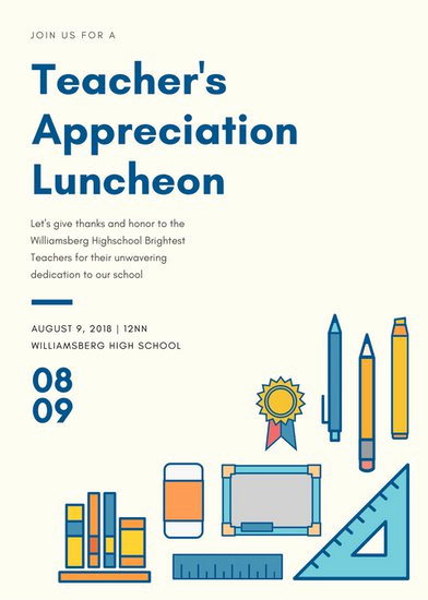 Teacher Appreciation Luncheon Invitation Wording Luxury Luncheon Invitation Templates Canva