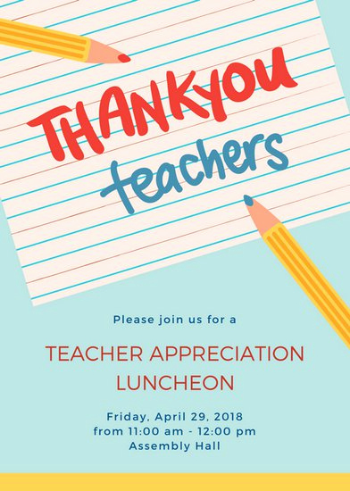 Teacher Appreciation Luncheon Invitation Wording New Customize 114 Luncheon Invitation Templates Online Canva