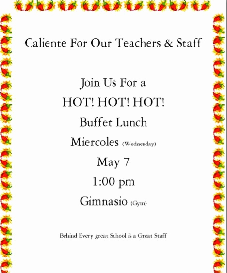 Teacher Appreciation Luncheon Invitation Wording New Luncheon Invitation to Staff for Teacher Appreciation Week