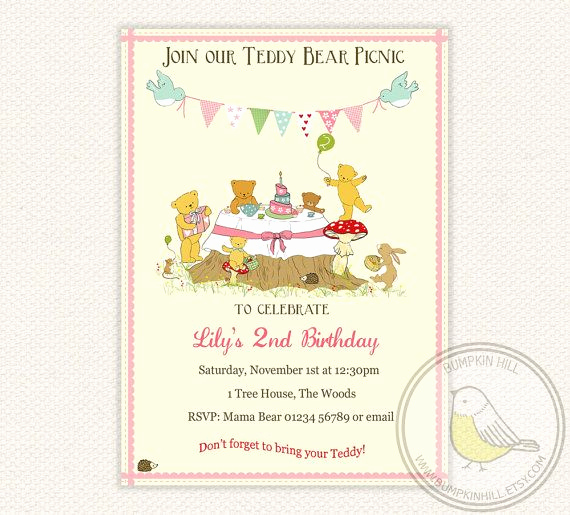 Teddy Bear Picnic Invitation Awesome Best 25 Picnic Invitations Ideas On Pinterest