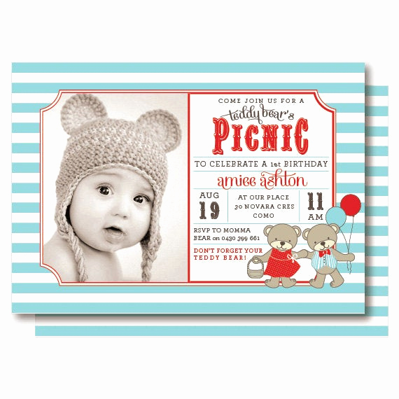 Teddy Bear Picnic Invitation Fresh Teddy Bear Picnic Invitations