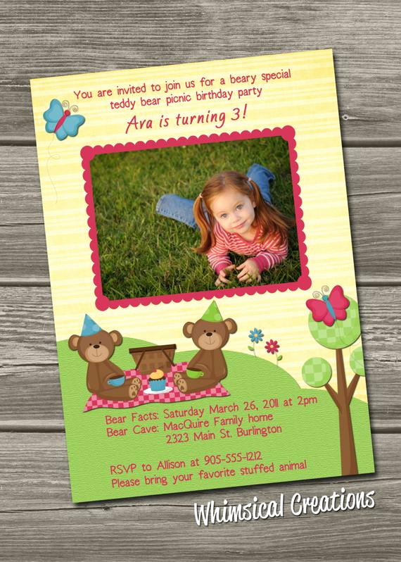 Teddy Bear Picnic Invitation Inspirational Items Similar to Teddy Bear Picnic Birthday Invitation