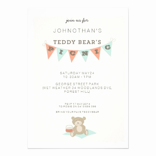 Teddy Bears Picnic Invitation Fresh 3 000 Picnic Invitations Picnic Announcements & Invites