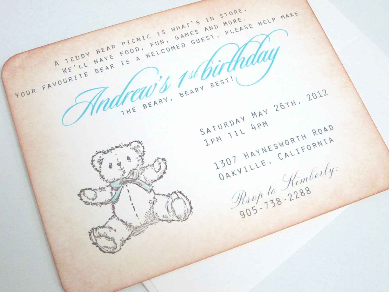 Teddy Bears Picnic Invitation Fresh Baby Shower Invitation Teddy Bear Picnic with by Anistadesigns