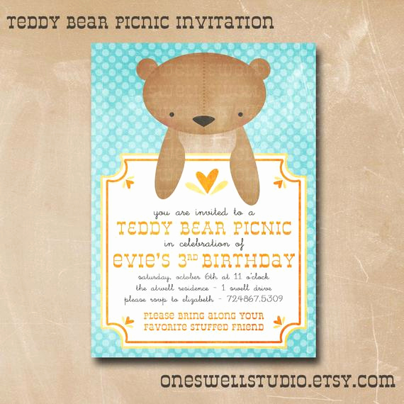 Teddy Bears Picnic Invitation Inspirational Items Similar to Teddy Bear Invitation Gender Neutral