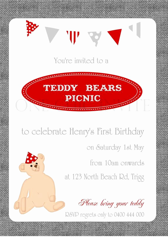 Teddy Bears Picnic Invitation Luxury Items Similar to Teddy Bears Picnic Birthday Invitation