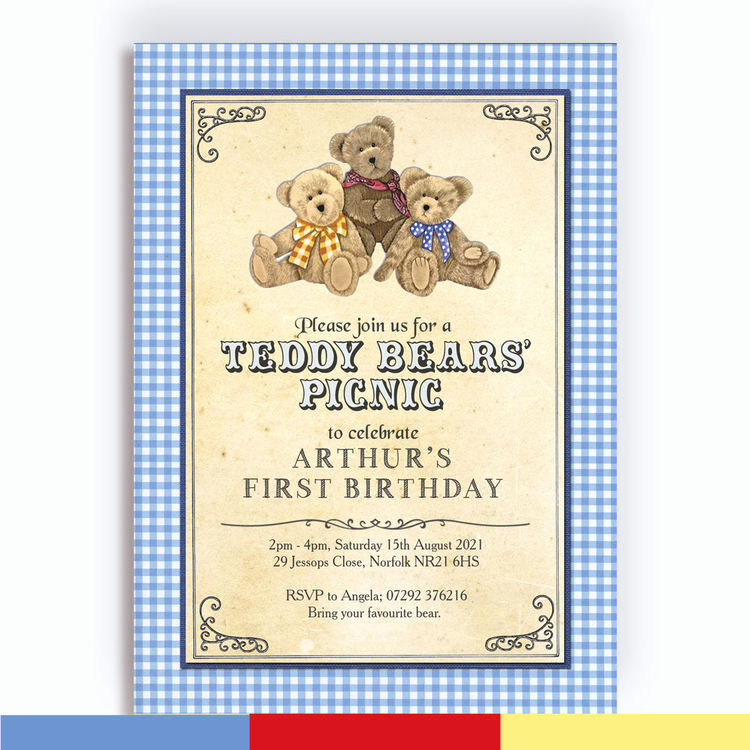 Teddy Bears Picnic Invitation Luxury Teddy Bears Picnic Kids Party Invitation