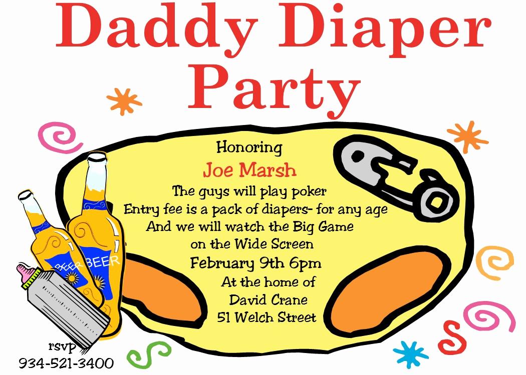 Template for Diaper Invitation Inspirational Diaper Invitation Template