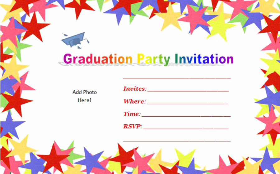 Template for Graduation Invitation Fresh 40 Free Graduation Invitation Templates Template Lab