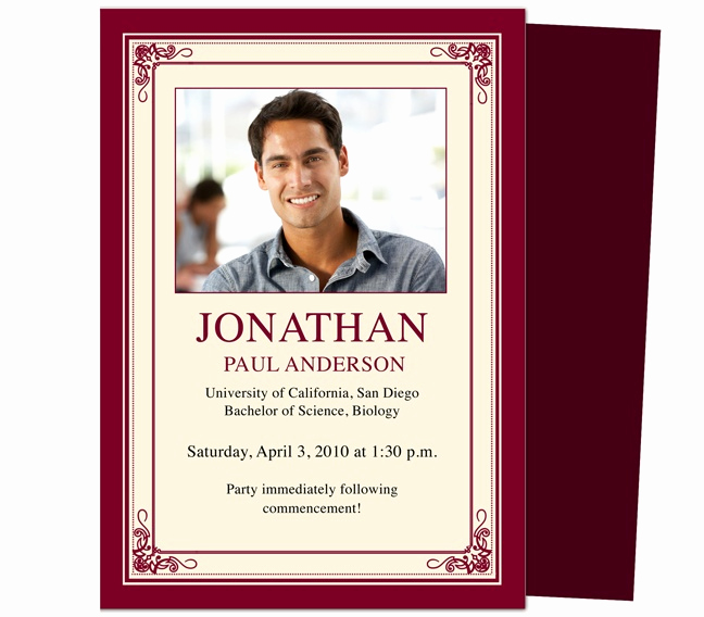 Template for Graduation Invitation Fresh 46 Best Printable Diy Graduation Announcements Templates