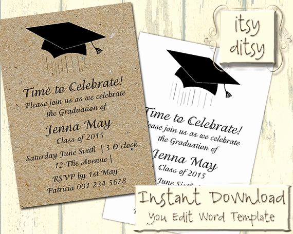Template for Graduation Invitation Fresh Best 25 Graduation Invitation Wording Ideas On Pinterest