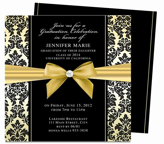 Template for Graduation Invitation Fresh Dandy Graduation Announcement Invitation Template