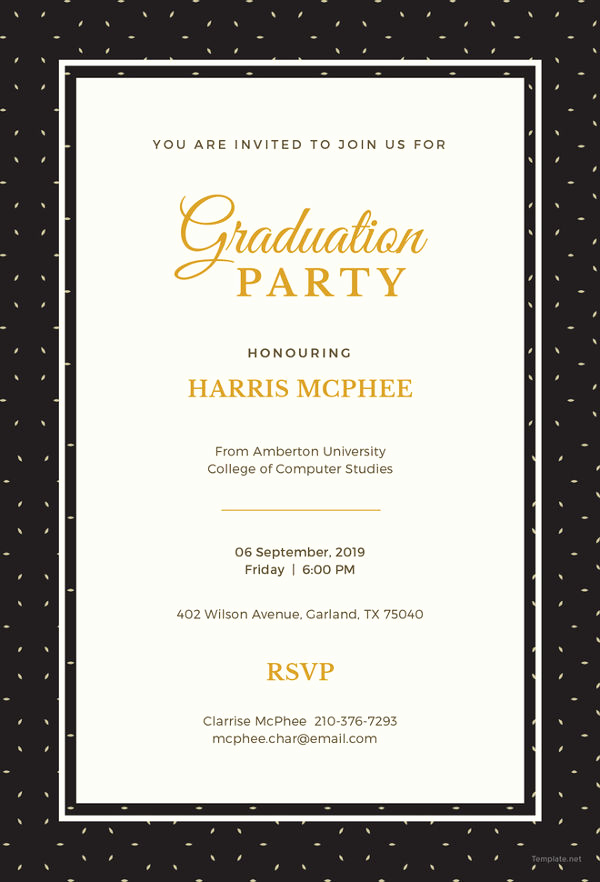 Template for Graduation Invitation New 19 Graduation Invitation Templates Invitation Templates