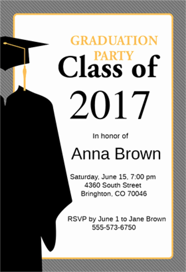 Template for Graduation Party Invitation Beautiful 9 Graduation Menu Templates Psd Vector Eps Ai