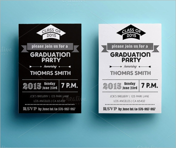 Template for Graduation Party Invitation Beautiful Sample Graduation Card Template 11 Documents In Psd