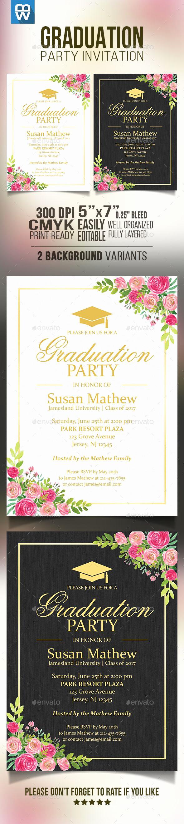 Template for Graduation Party Invitation Fresh 25 Unique Invitation Templates Ideas On Pinterest