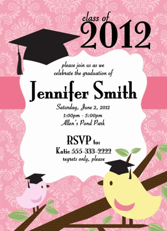 Template for Graduation Party Invitation Fresh Diy Graduation Announcements Templates