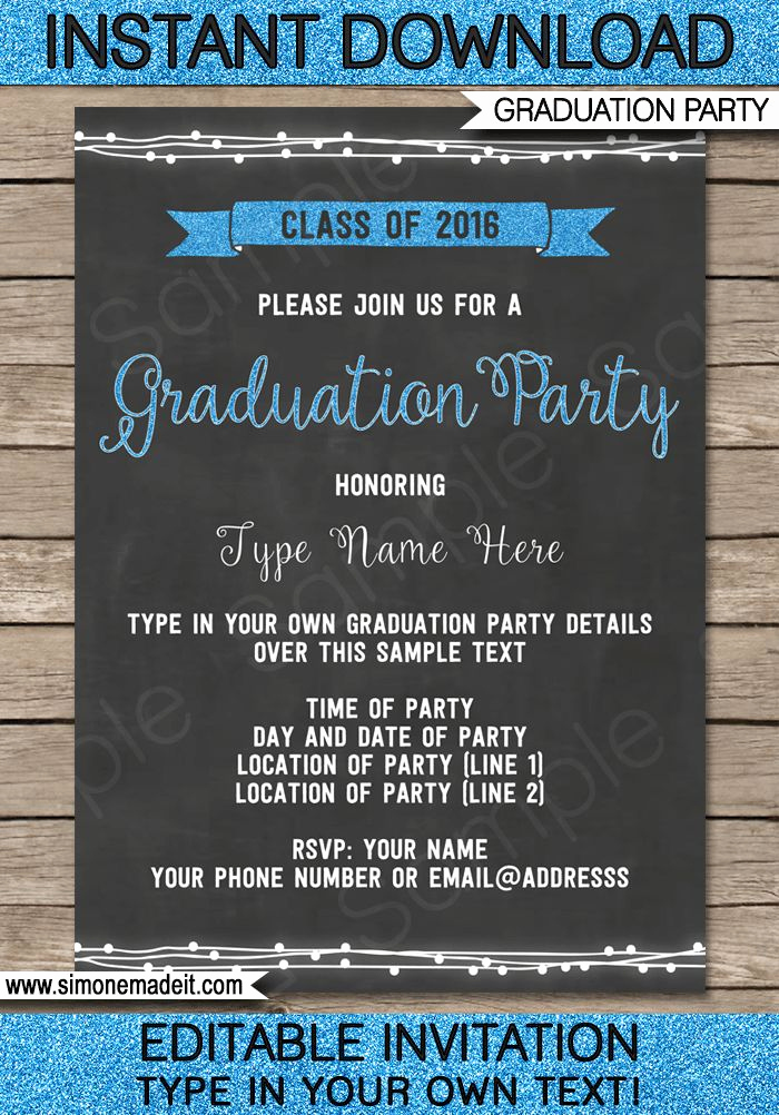 Template for Graduation Party Invitation Inspirational Best 25 Graduation Invitation Templates Ideas On