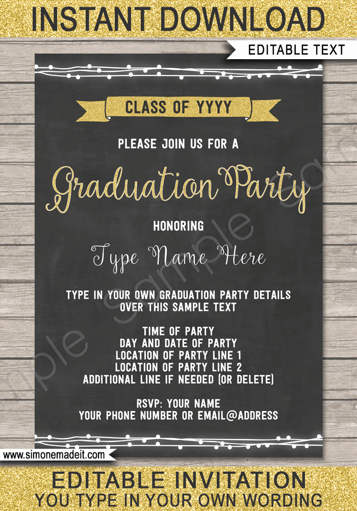 Template for Graduation Party Invitation Luxury Graduation Party Invitations