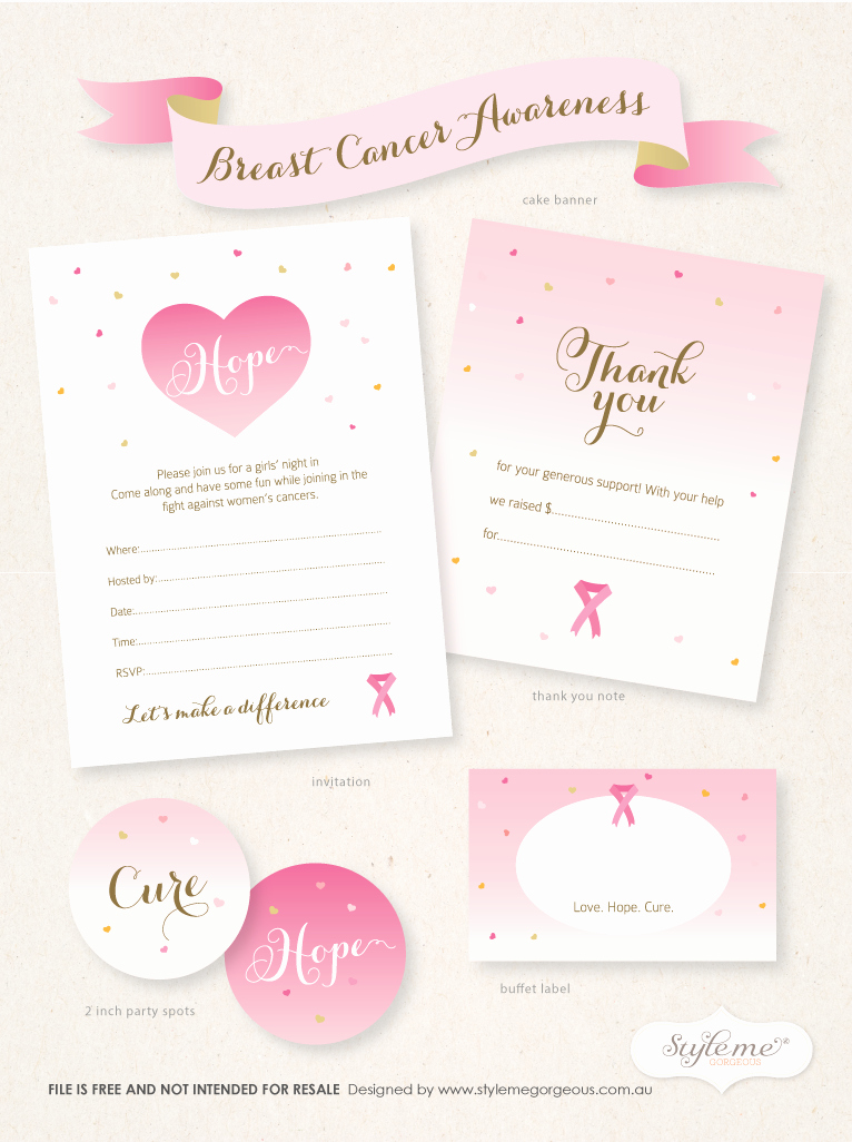 Thank You Letter for Invitation Lovely Free Breast Cancer Awareness Invitation Template Thank