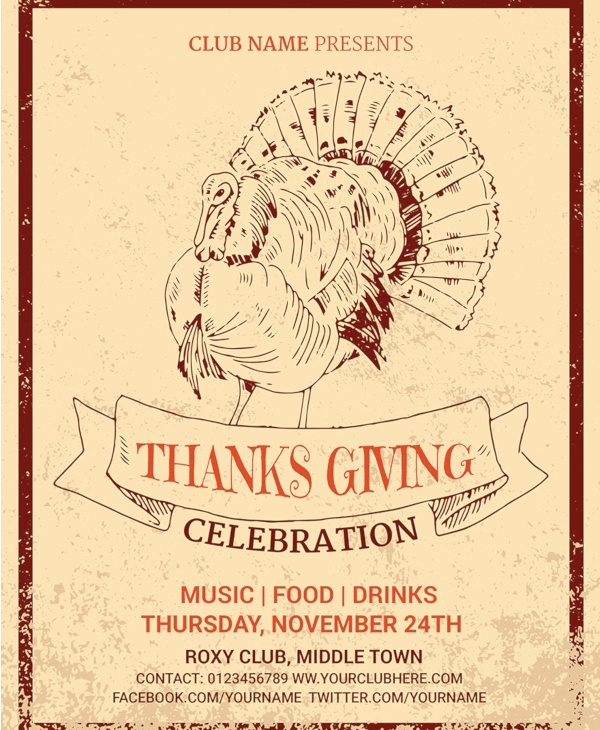 Thanksgiving Invitation Templates Free Word Awesome 25 Free Thanksgiving Templates Psd Ai Eps