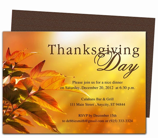 Thanksgiving Invitation Templates Free Word Best Of Thanksgiving Invitations Templates