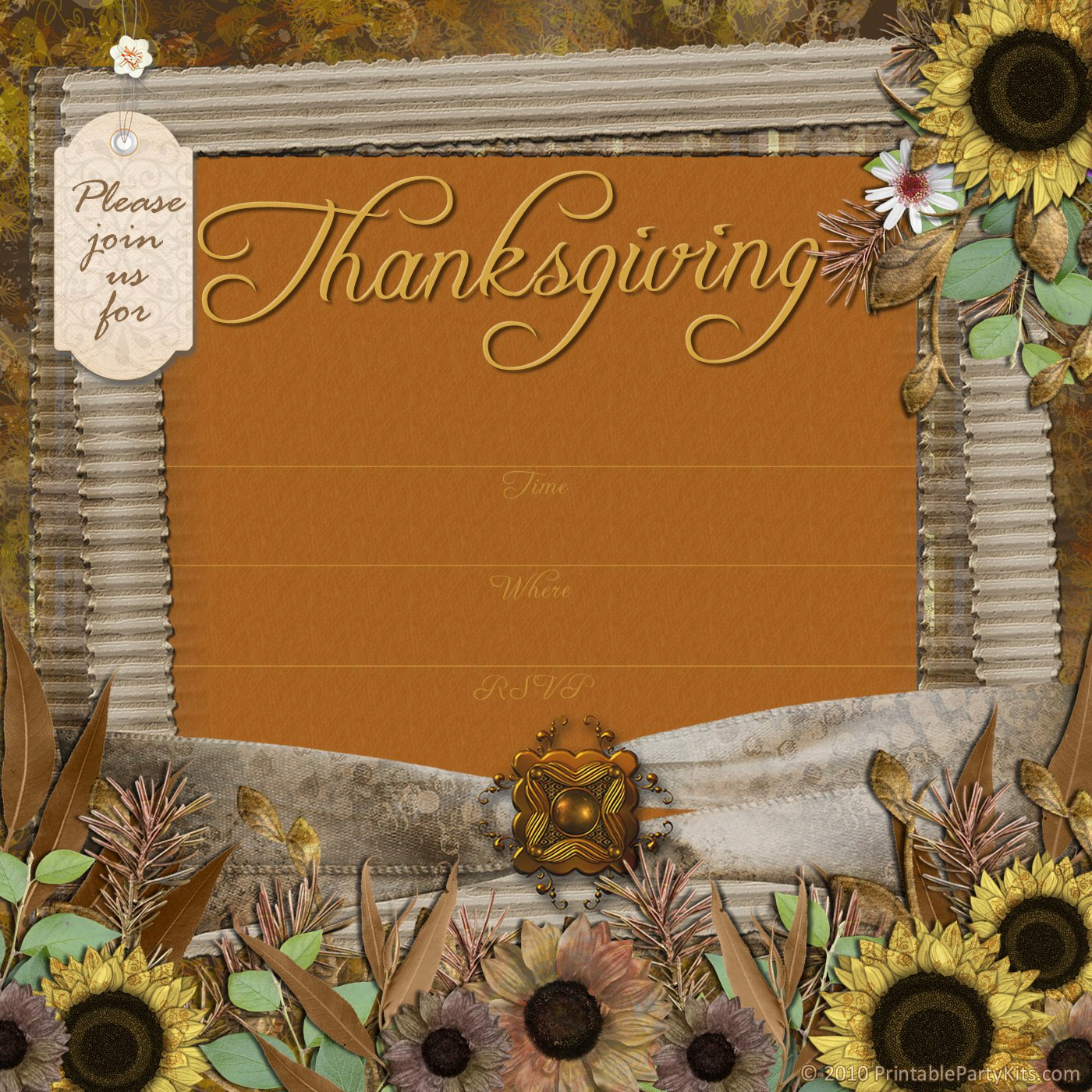 Thanksgiving Invitation Templates Free Word Best Of Thanksgiving Luncheon Invitation