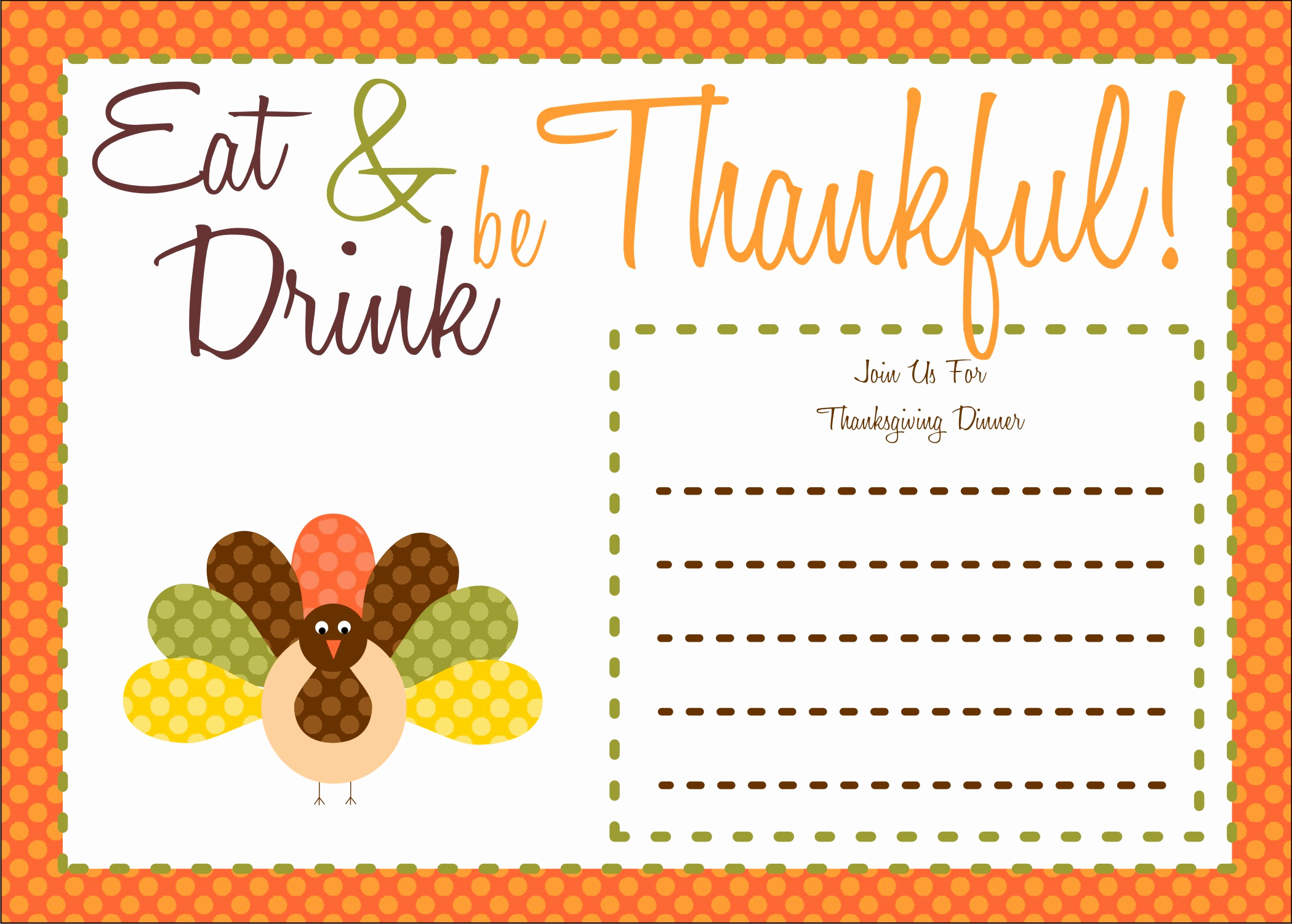 Thanksgiving Invitation Templates Free Word Elegant Free Thanksgiving Printables From the Party Bakery