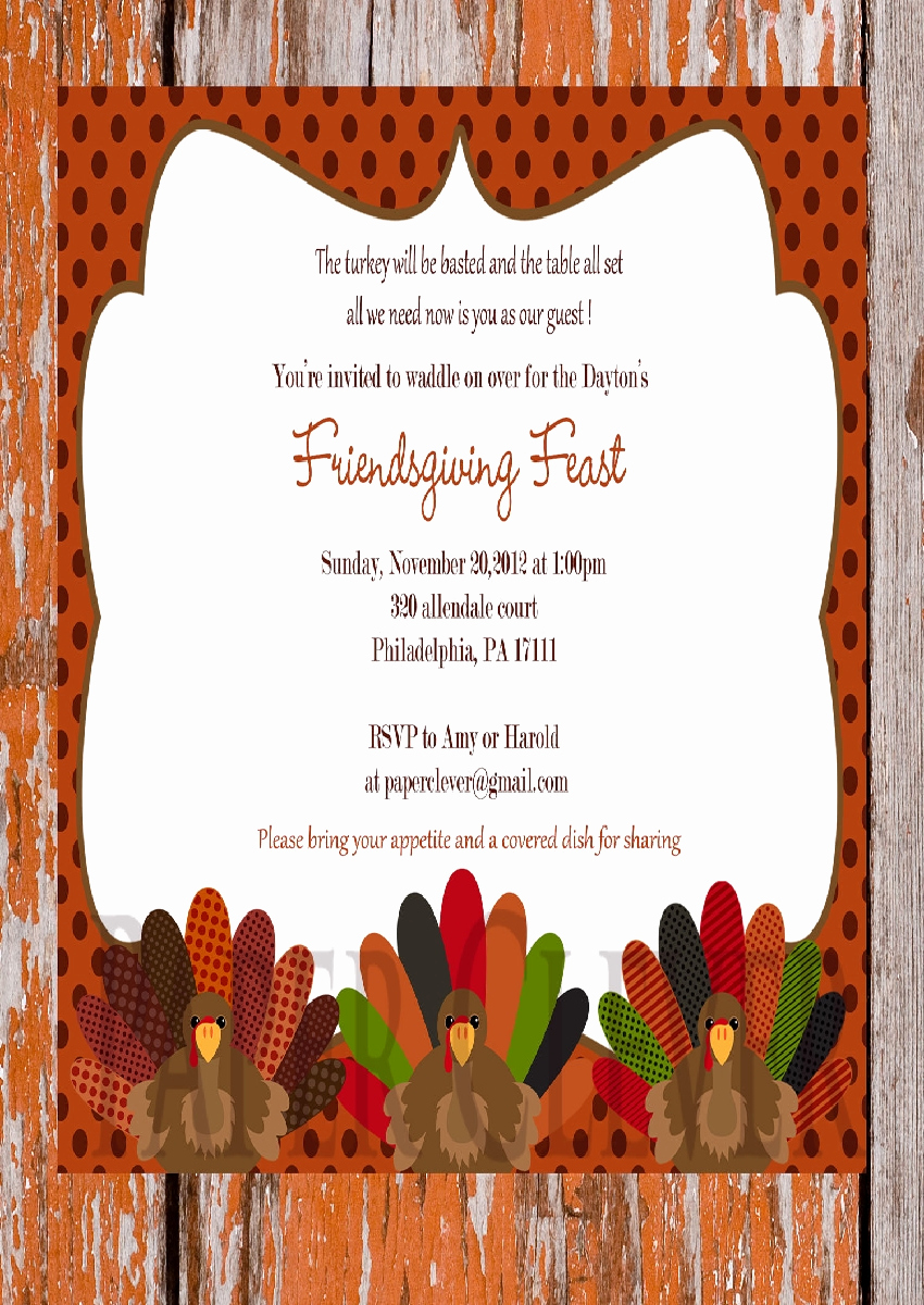 Thanksgiving Invitation Templates Free Word Elegant Thanksgiving Invitation Sample